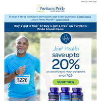 Get Moving: Up to 20% Off Joint Health