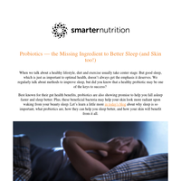 How Your Stomach Affects Sleep & Skin Health