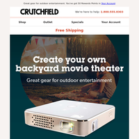 Create your own backyard movie theater
