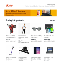 Up to 50% off back-to-school supplies with Certified Refurbished
