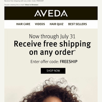 Receive Free Shipping on your order!