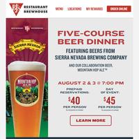 Last Chance ❕ $40 Beer Dinner Registration!