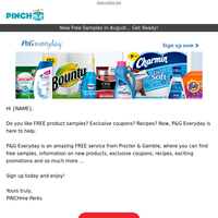 Free Samples and more from P&G