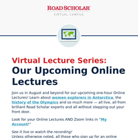 Upcoming LIVE Online Lectures: Golden Gate Bridge + Women of Morocco + More