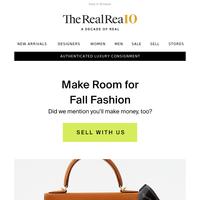 Make room for fall fashion