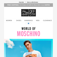 So much Moschino up to 60% OFF