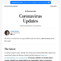 Coronavirus Updates: More people need to wear masks inside, CDC says
