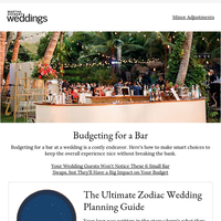 Your Wedding Guests Won't Notice These 6 Small Bar Swaps, but It'll Help Your Budget