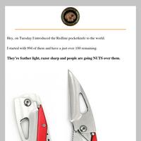 FREE Redline Pocketknife OUT OF STOCK SOON.