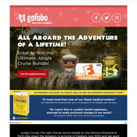 Win the ULTIMATE JUNGLE CRUISE Bundle & Watch it in the Theater!