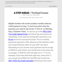 Are You Ready for the Next Child Tax Credit Payment?
