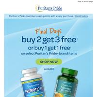 FINAL Days: Buy 2 Get 3 Free