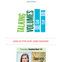 Live from the Fitzgerald Theater: Join us for another season of Talking Volumes