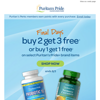 Act Fast >> Buy 2, Get 3