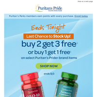 Last Call for Buy 2, Get 3 Free