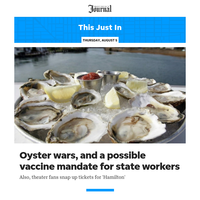 This Just In: Oyster wars, and a possible vaccine mandate for state workers