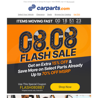 The 08.08 Flash Sale is here!⚡ (Extra 15% Savings Inside)