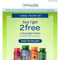 Vitamins & Supplements » Buy 1, Get 2 More Free