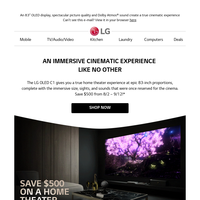 """Save $500 on the 83"""" OLED C1: The Home Theater Masterpiece"""