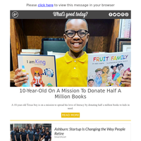 Feel Good Friday: 10-Year-Old on a Mission to Donate Half a Million Books