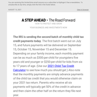 Second Batch of Child Tax Credit Payments Out Today