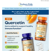 NEW in Immune Support—Quercetin with Vitamins C & D