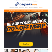 Special Offer: 70% OFF MSRP on Parts & Accessories