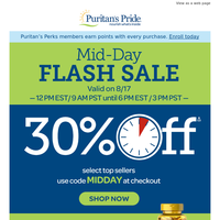 Only 6 HOURS to save 30%