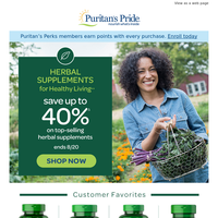 Herbal Supplements   Save up to 40%