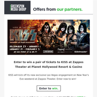 Enter to win tickets to KISS at Zappos Theater