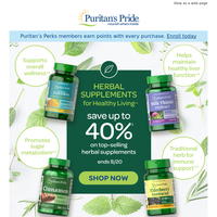 Set the clock: Up to 40% off Herbs ends tonight