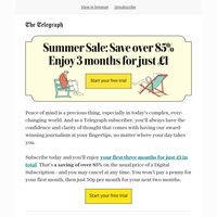 Act now to claim our unmissable summer saving