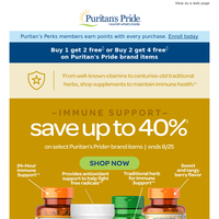 Key vitamins for Immune Support. Save up to 40%