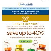 Immune Support vitamin sale happening now