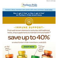 Ends soon: Up to 40% savings on Immune Support