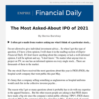 The Most Asked-About IPO of 2021