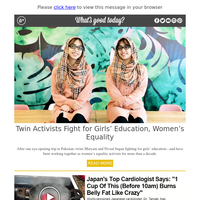 Feel Good Friday: Twin Activists Fight for Girls' Education, Women's Equality