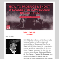 13 Tips to Produce a Micro-Budget Horror Film