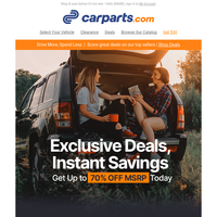 Exclusive Deals for You: Vehicle Parts & More
