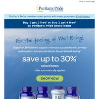 Get ready! Big savings on popular B Vitamins