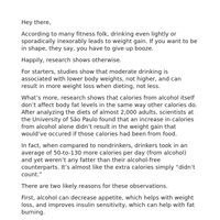 """A simple """"fitness-friendly"""" way to drink alcohol"""