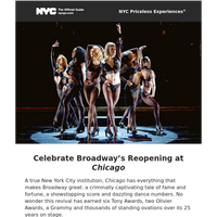 Experience the Reopening of Broadway's CHICAGO Like a VIP