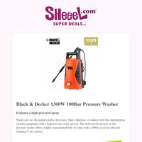 Get Black & Decker 1300W 100Bar Pressure Washer For Only KD19.9