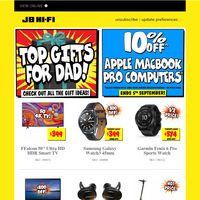 Top Father's Day Deals + 10% off Apple MacBook Pro Computers