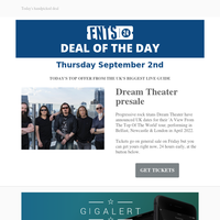 Deal of the Day: Dream Theater presale