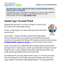 Must Read: Small Cap Stocks' Second Wind