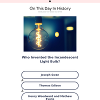 Trivia: Who Invented the Incandescent Light Bulb?