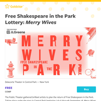 Free Shakespeare in the Park Lottery: \