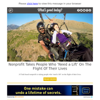 Feel Good Friday: Nonprofit Takes People Who 'Need a Lift' on The Flight of Their Lives