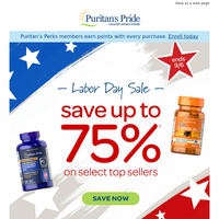{NAME}, shop our Labor Day Event. Save up to 75% OFF